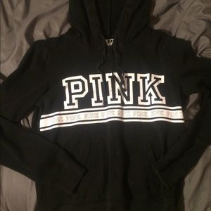 Black and White Pink Hoodie